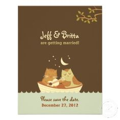 The Owl and the Pussycat Wedding Invites