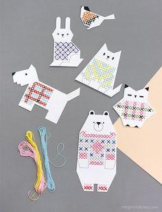 Animal Cross Stitch for Kids - Mr Printables