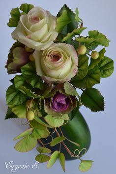 {Very nice ornamental cabbages along with some Bauhinia leaves by EugenieS}  by EugenieS}