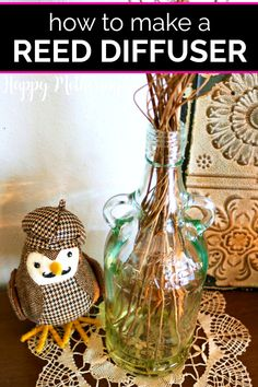 Learn how to make the best DIY Reed Diffusers with essential oils in this easy craft tutorial. They make a pretty home decor idea and the fragrance can easily be customized. Use a repurposed glass bottle for a special touch. #reeddiffusers #diyreeddiffuser #essentialoils #essentialoilideas #diy #howto #homefragrance #easycrafts #doityourself #makeityourself #essentialoilrecipes #homedecor #diydecor #diyhomedecor #homemaking #lifehacks #popularcrafts #craftideas #naturalliving #greenliving Wintergreen Essential Oil, Best Essential Oils, Essential Oil Uses, Upcycled Crafts, Easy Crafts, Repurposed, Easy Diy, Green Craft, Popular Crafts