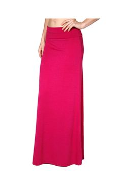 - 100%RAYON - Imported - This piece features a high banded waist and floor length hem. - Look and feel great all day in this comfortable and trendy maxi skirt. This piece features a high banded waist