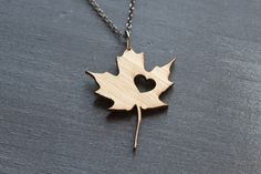 Born and raised, transplanted and proud... if your heart lives in Canada, then this necklace belongs around your neck.  Wear your love. Or send your love.