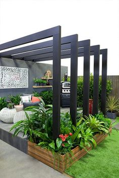 Backyard Landscaping Ideas – Search landscapes and also yards. Discover new land… Backyard Landscaping Ideas – Search landscapes and also yards. Discover new landscape designs and ideas to boost your home's aesthetic appeal. Backyard Patio Designs, Small Backyard Landscaping, Pergola Patio, Pergola Kits, Landscaping Design, Patio Ideas, Backyard Ideas, Backyard Projects, Modern Pergola