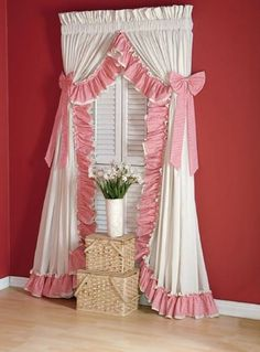 Cottage Gingham Ruffled Curtains – The Curtain Cottage Cottage Curtains, Living Room Decor Curtains, Home Curtains, Country Curtains, Curtains With Blinds, Decor Room, Curtain Designs For Bedroom, Latest Curtain Designs, Window Curtain Designs