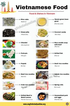 45 Best Vietnamese Food & Dishes You Should Know - English Study Online Grilled Beef, Grilled Fish, Vietnamese Food, Vietnamese Recipes, English Study, Learn English, Crab Rice, Pork Spring Rolls, Bo Bun