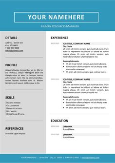 Free Clean And Simple Resume Template For Word Docx  Gray
