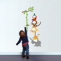 Baby Jungle Height chart Wall Stickers by Vinyl Impression