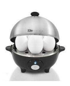 Elite Platinum Egg Cooker w/ Stainless Steel Egg Tray and Lid- 7 Eggs - 9455749 Boiled Egg Maker, Hard Boiled Egg Cooker, Soft Boiled Eggs, Small Kitchen Appliances, Kitchen Aid Mixer, Belgian Waffle Maker, Crepe Maker, Specialty Appliances, Kitchens