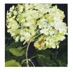 Original Oil Painting Still life hydrangea flower on by HOomen, $180.00