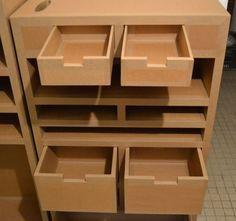 Tiroirs carton recyclé