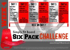Simply Fit Board Six Pack Challenge: Week 4
