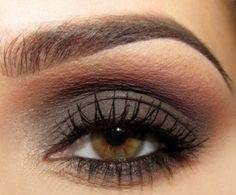 Grey and soft brown smokey eye #makeup