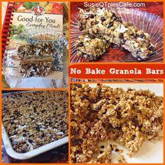 No Bake Granola Bars - healthier recipe for the kids