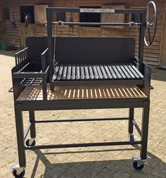 Outdoor Bbq Kitchen, Outdoor Kitchen Design, Outdoor Cooking, Asado Grill, Bbq Grill, Grilling, Barbecue Design, Grill Design, Argentine Grill