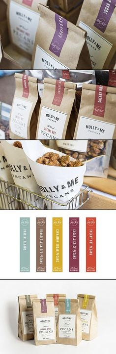 Molly & Me Pecan #packaging by Nudge http://www.designworklife.com/2013/07/26/new-work-from-nudge/ PD: