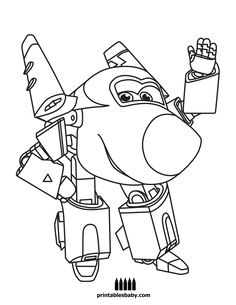 jett coloring pages super wings   kids coloring pages   pinterest ... - Sprout Super Wings Coloring Pages