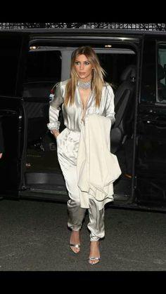 Silk silver jumpsuit