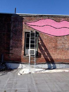 #Graffiti #pink #lips