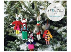 Anthropologie cute Christmas bunny decorations