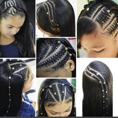Pretty Braided Hairstyles, Cute Hairstyles For Teens, Baby Girl Hairstyles, Curly Hair Styles, Natural Hair Styles, Cabello Hair, Hair Upstyles, Honey Hair, Braids For Short Hair