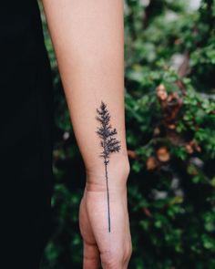 37 Ideas Pine Tree Tattoo Spine Simple on back shoulder tattoos on back on back of neck on back skull Spine Tattoos, Finger Tattoos, Body Art Tattoos, Small Tattoos, Tree Sleeve Tattoos, Tattoos Of Trees, Willow Tree Tattoos, Forest Tattoos, Detailliertes Tattoo