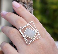 Anel Quadrados Rita Santos Designer #accesorios