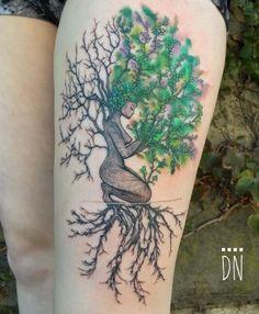 Tree Girl Tattoo