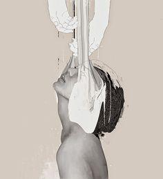 Paintings and mixed media by Januz Miralles | http://ineedaguide.blogspot.com/2015/04/januz-miralles-update-3.html | #art #paintings