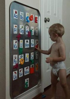 Giant oil pan from Walmart as wall magnet board. readablephonics Giant oil pan from Walmart as wall magnet board. Giant oil pan from Walmart as wall magnet board. Alphabet Board, Alphabet Magnets, Alphabet Wall, Letter Board, Letter Blocks, Letter Wall, Toy Rooms, Baby Kind, Baby Baby