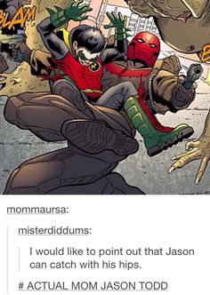 Jason Todd | Red Hood | Damian Wayne | Robin <<< THATS MY BOY!