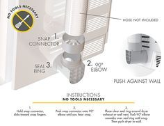Snap To Vent The Best Dryer Connection For Installing Your Dryer Diy Dryer Installation Dryer Vent Dryer Hose Dryer Vent Hose Dryer Vent Best Dryer