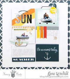 #papercrafting #scrapbook #layout idea: Hello friends! Alena is here today.  My husband has his…