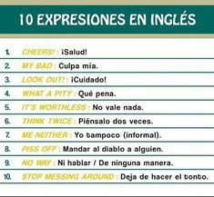 Slang English, English Phrases, English Idioms, English Grammar, Teaching English, English Letter, Learn English Words, Spanish Words, How To Speak Spanish