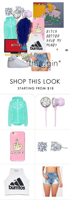 """bc it never ends"" by danielledavis603 ❤ liked on Polyvore featuring NIKE"