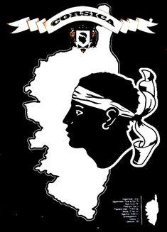 Corsica - Drapeau : Plaque décorative rétro en métal représentant le drapeau de la Corse. Idéal pour créer une décoration vintage dansvotre intérieur ou encore dans un bar, un gîte ou une auberge Corse.