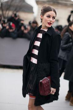 Fotos de street style en Paris Fashion Week: Olivia Palermo de Christian Dior | Galería de fotos 222 de 322 | Vogue