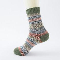 8f4d15ae48 Winter Thick Warm Stripe Wool Socks Casual Calcetines Hombre Sock Business  Male underwear Men Socks men hip hop wholesale