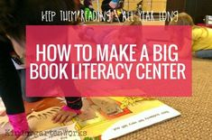 How I organize, offer choice and set up a big book literacy center in my kindergarten classroom. It lasts all year long and it hits so many standards! Kindergarten Classroom Organization, Kindergarten Library, Kindergarten Reading Activities, Kindergarten Centers, Literacy Centers, Book Activities, Literacy Stations, Classroom Design, Classroom Ideas