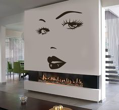 Vinyl Wall Decal Eyes Woman Face Lips Beauty Salon Girl Room Stickers - Care - Skin care , beauty ideas and skin care tips Beauty Salon Decor, Beauty Salon Design, Salon Interior Design, Beauty Bar, Beauty Ideas, Small Beauty Salon Ideas, Makeup Studio Decor, Beauty Unique, Home Beauty Salon