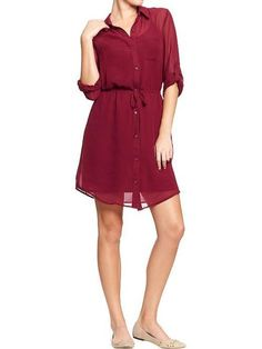 Women's Button-Down Chiffon Dresses by Old Navy