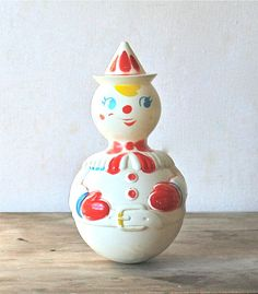 Vintage Roly Poly Clown by ivorybird on Etsy, $8.00