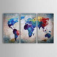 Handgeschilderde AbstractModern Drie panelen Canvas Hang-geschilderd olieverfschilderij For Huisdecoratie – EUR € 105.83