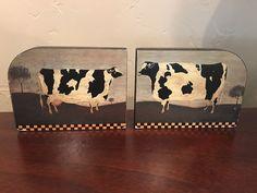 Set of 6 Warren Kimble Photo Storage Boxes w//Apple Pie
