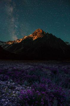 expressions-of-nature:  Moonrise Over Tihtingen / Caucasus by: Elena Brezhitskaya