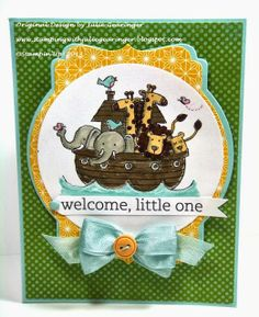 Stamping with Julie Gearinger- Stampin' Up! SUO80 Welcome Baby Challenge