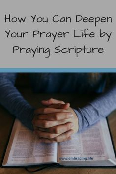 Praying scripture honors God by using His own words to praise Him and pray to Him. Here's how and why we should pray scripture to grow in our prayer life. Scriptures About Fear, Prayer Scriptures, Prayer Quotes, Bible Quotes, Bible Verses, Scripture For Fear, Prayer Ideas, Scripture Memorization, Healing Scriptures