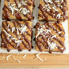 Banana Coco Choc Chip Bars (sub out brown sugar for xylitol or coconut palm)