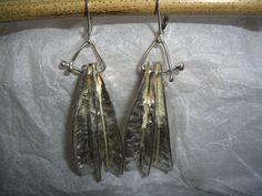 Ohrhänger - Ohrringe aus mehrfach gefaltetem Silber - ein Designerstück von schmuckspektakel bei DaWanda