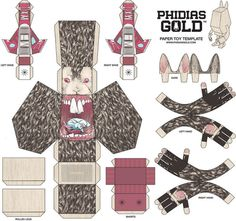Illustration - Paper Toy by Matthew Byle, via Behance