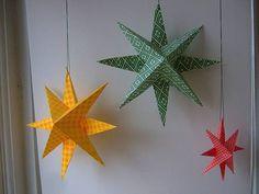 NapadyNavody.sk | Ako si vyrobiť super jednoduché papierové hviezdy na vianočný stromček